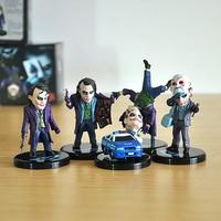 5 Pcs Set 6 7cm Batman The Dark Knight The Joker Mini PVC Action Figures Children
