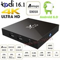 20 Unids/lote X96 Quad Core Android 6.0 TV Box 4 K 8 GB/16 GB 2.4G WiFi HDMI 2.0a KODI Establecer Caja Smart TV Caja Media Player Miracast