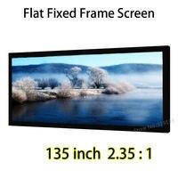 Выдающееся качество изображения проецирования Экран 135 дюймов 2.35x1 фиксированный Рамки настенное крепление Экраны Поддержка 4 К проектор