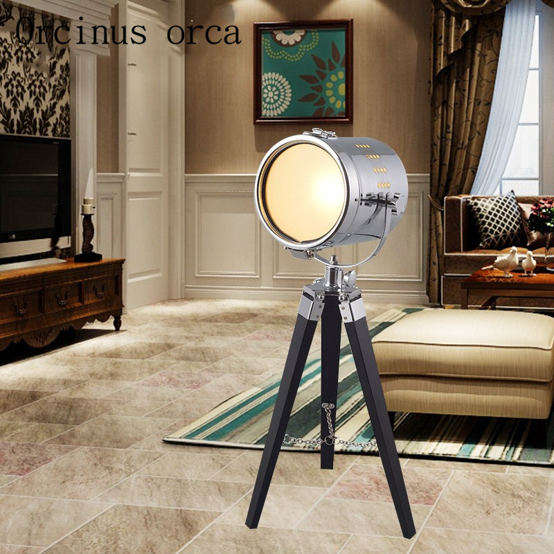 American retro probe desk lamp living room bedside lamp industry wind and iron works creative LED decorative table lamp
