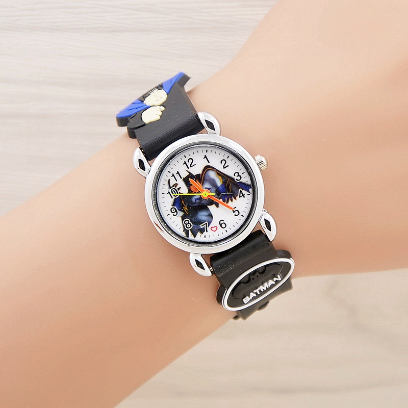 2017 batman Cartoon Watch Children Kids Wristwatch Boys Clock Child Gift Wrist Watch Quartz Cartoon-watch Quartz-watch relogio joyrox minions pattern children watch 2017 hot despicable me cartoon leather strap quartz wristwatch boys girls kids clock