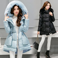 Plus Size Winter Jackets Women Coat Thickening Warm Cotton Wadded Down Women's Coat Faux Fur Stand Collar Female Clothing Y86E