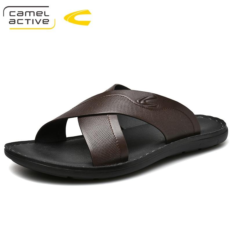 Camel Active 2019 Novos Homens Chegada do Verão Desliza Sapatos de Praia de Alta Qualidade Não-deslizamento Chinelos Masculinos Zapatos Hombre Casuais sapatos