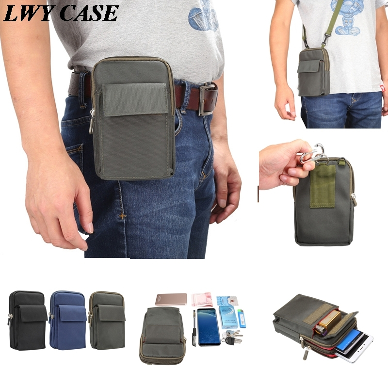 For Apple iPhone X 7 8 Plus 6 6S 5 5S 5SE 6.4 inch Big Size Universal Outdoor Sports Belt Clip Holster Waist Bag Wallet Case