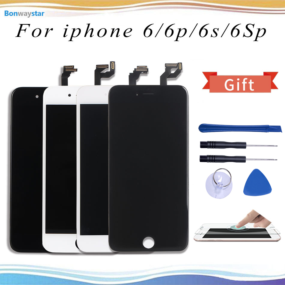 White&Black 100% OEM Screen For iPhone 6 6 Plus 6s Plus LCD Screen Replacement Display with 3D Touch Screen Digitizer Assembly image