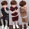 heat! 2016 newborn baby suit children's clothing brand sportswear suit boys and girls T-shirt + vest + pants 3pcs  Free shipping