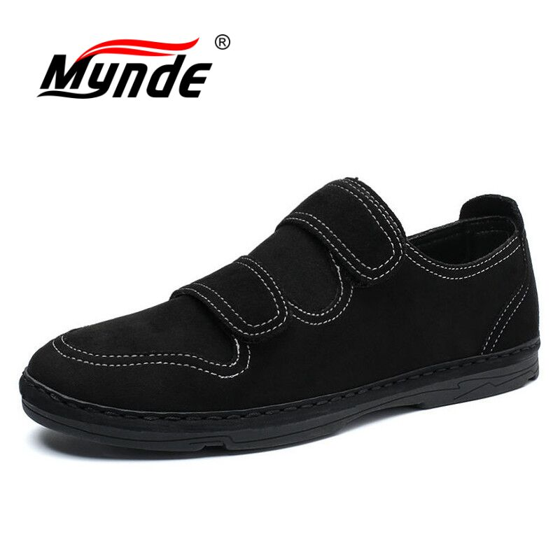 Mynde Men Casual Shoes 2018 Fashion Men Shoes Leather Men Loafers Moccasins Slip On Men's Flats Loafers Male Shoes black real leather 2017 mules summer brown european loafers men genuine shoes moccasins half male casual slip ons hot sale