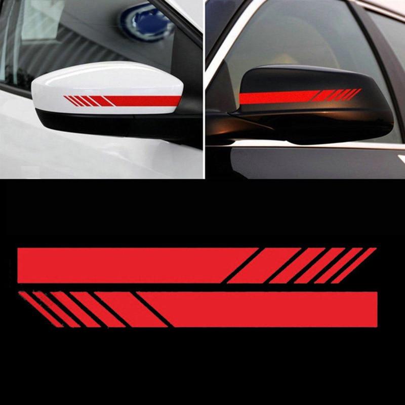2 шт. наклейка на зеркало заднего вида s для автомобиля, Стайлинг для домашних животных, автомобильная наклейка на зеркало заднего вида, боковая наклейка в полоску, автомобильные аксессуары - Название цвета: 4