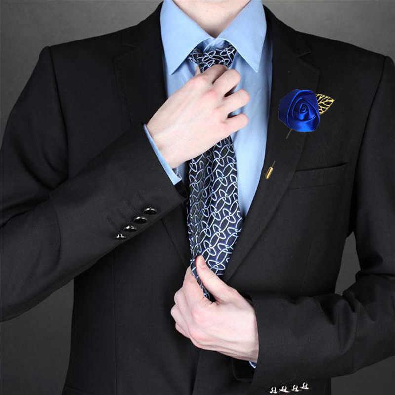 新郎ブートニエールボタン穴介添人最高の男ピン結婚式花アクセサリーウェディングスーツ装飾 XH05