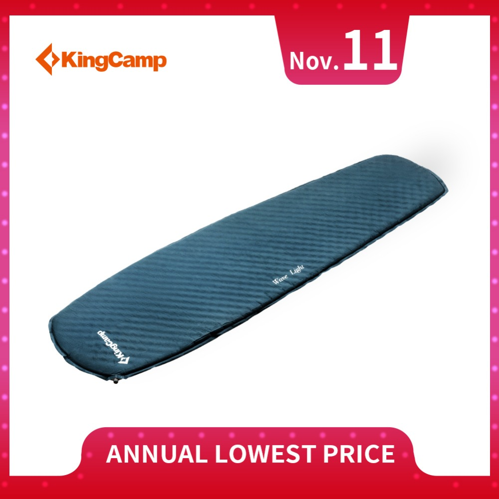 KingCamp Camping Mat Portable Ultralight Waterproof Folding Sleeping Pad Automatic Air Mattress for Camping Trekking Outdoor