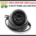 Envío Libre de Seguridad CCTV AHD Cámara de 2MP Cámara Domo IR de Interior 960 P con carcasa de la cámara Negro