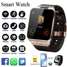 2019 умный Smartwatch цифровой Спорт золото смарт часы DZ09 шагомер для телефона наручные часы Android для мужчин женщин satti