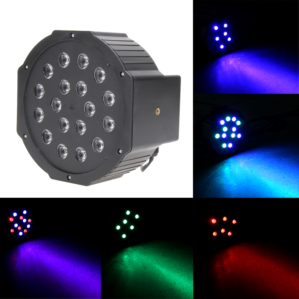 2pcs Par 24W RGB LED Stage Light Disco DJ Bar Christmas Wedding Party Laser Projector Lighting DMX-512 Strobe #LO mini rgb led party disco club dj light crystal magic ball effect stage lighting