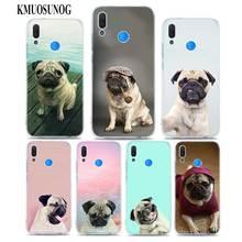 Transparent Soft Silicone Phone Case pug dpt for huawei P Smart Nova 3i P20 P10 P9 P8 Lite 2017 Pro Plus