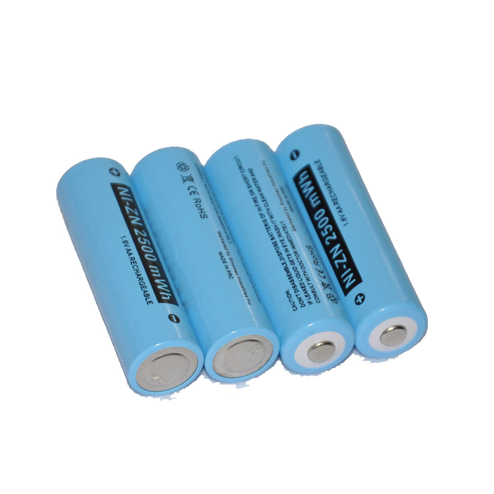 4PCS AA Size 2500mAh Battery Ni-Zn 1 6V Rechargeable NiZn Batteries Replace  For 1 2V Ni-Mh 1 5V Alkaline Dry Battery for Camera