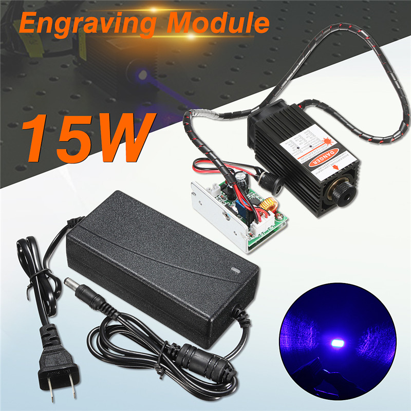 15w laser head engraving module high power 15000mw blue color laser head diy metal engraving 450nm lasers with ttl driver New 15W Laser Head Engraving Module High Power 15000mw Blue Color Laser Head DIY Metal Engraving 450nm Lasers Engraving Machine