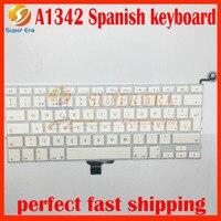 Nova marca para macbook 13.3 ''A1342 MC207 MC516 teclado Espanhol SP Espanha 2009 2010 ano