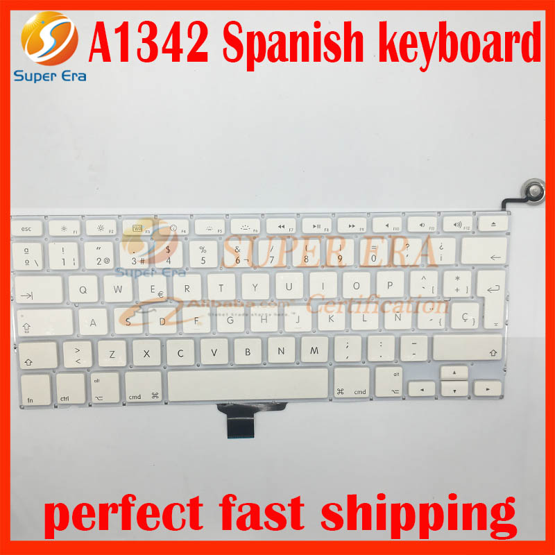 brand new for font b macbook b font 13 3 A1342 Spanish keyboard SP Spain 2009