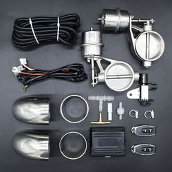 Válvula de vacío 51mm válvulas dobles de corte 63mm Sets silenciador de escape de recorte sonidos 2,0 pulgadas 2,5 pulgadas Válvula de Control remoto