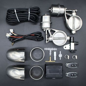 Vacuum Valve 51mm Double Cutout Valves 63mm Sets Cutout Exhaust Silencer Sounds 2.0 inch 2.5 inch Remoter Control Valve фото