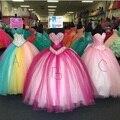 Barato Vestidos de Quinceañera Cristales de Color Rosa Con Cuentas Vestidos de Bola Vestidos de Quinceañera 2016 Dulce 16 Vestidos Vestidos De Fiesta de Quince Años 2016