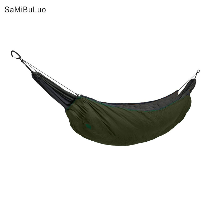 SAMIBULUO Winter Warm Hammock Underquilt Lightweight Camping Quilt Packable Full Length Under Blanket цена 2017