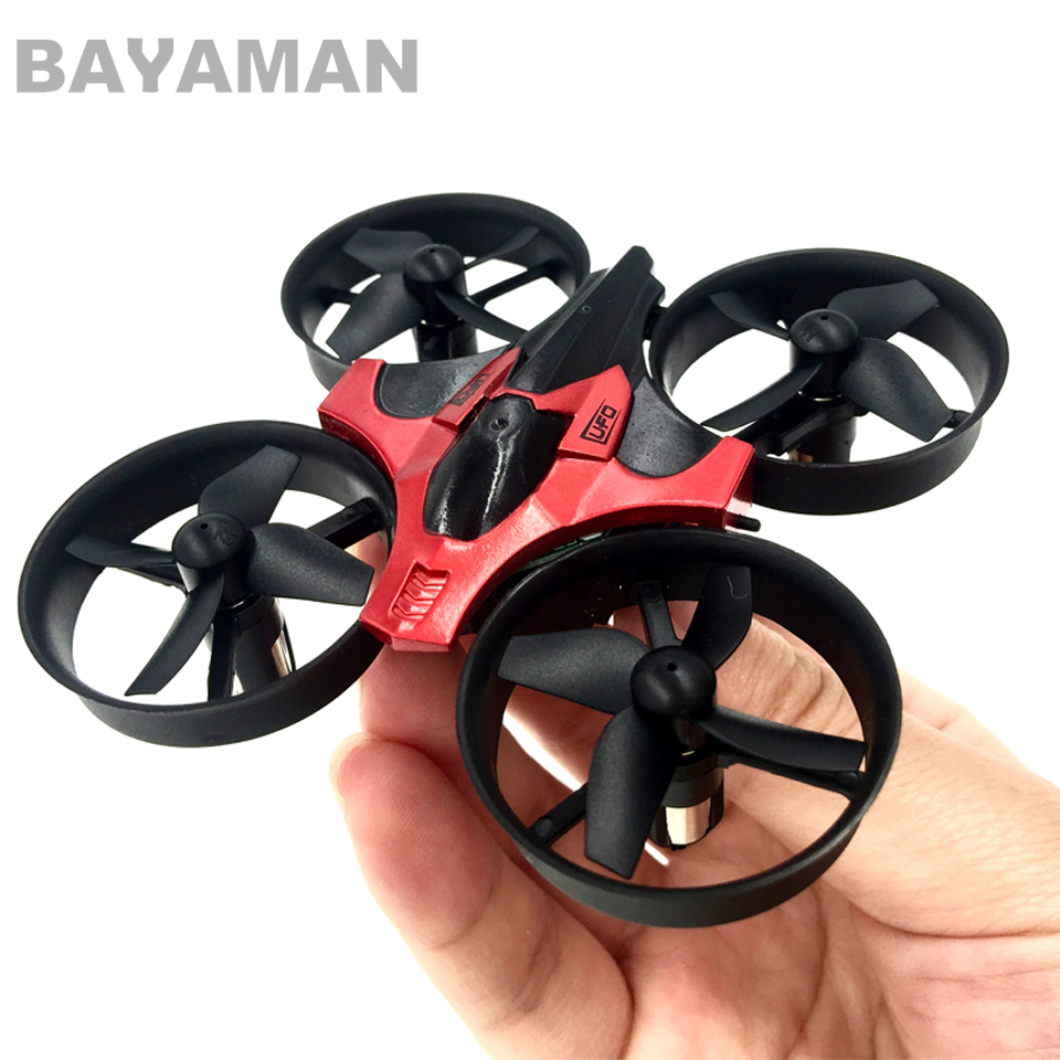 Mini drone 2.4G 6 Axis 3D Headless Mode RC Helicopter Quadcopter RTF RC Tiny Gift Present Kid Toys whith safety of the propeller