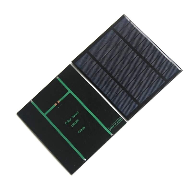 BUHESHUI 2 5W 5V 500mA Polycrystalline Epoxy Solar Cells DIY Solar Solar Panel Charger System For