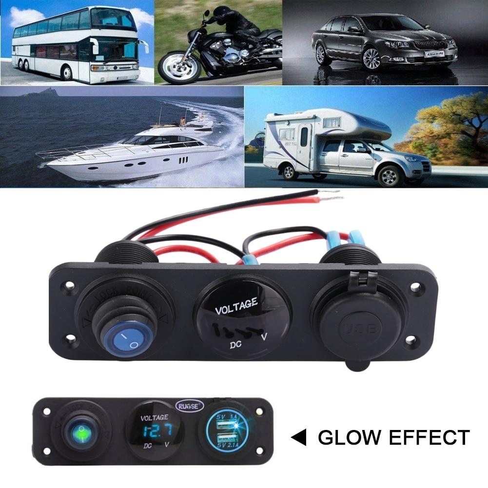 VEHEMO 3.1A светодиодный адаптер для зарядки USB зарядное устройство вольтметр автомобильное внутреннее зарядное устройство для телефона умное автомобильное зарядное устройство мощность MP3 для автомобиля