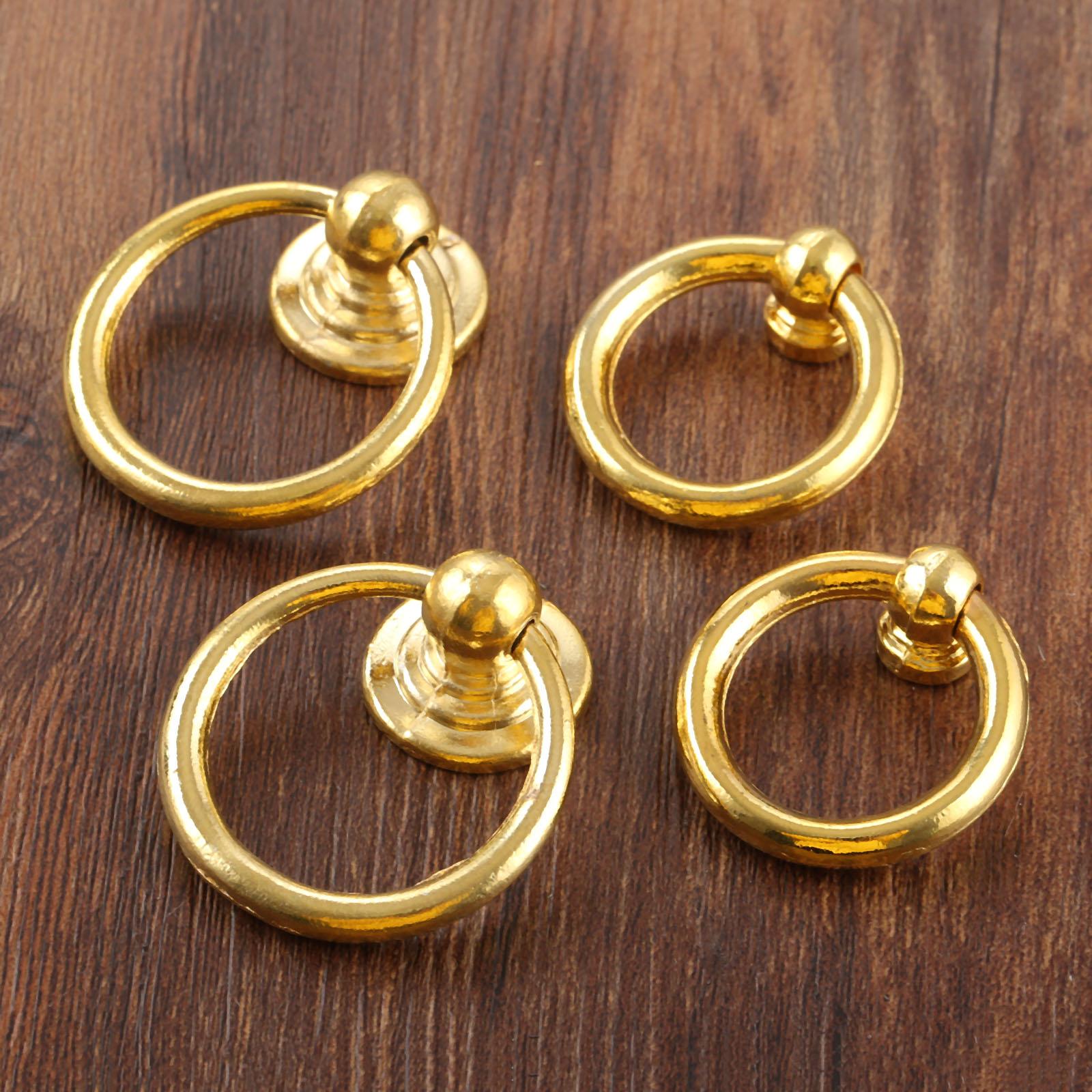Us 199 30 Offdreld 2 Stks Antieke Gouden Kast Knoppen En Handvat Sieraden Doos Meubels Handvat Kast Lade Deur Ring Knop Meubels Hardware In Kast