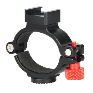 Image 5 - For DJI OSMO Mobile 2 Gimbal For OSMO Extension Ring Adapter Clip with Hot Cold Shoe Rosette Gear Phone LED Video Light Mount
