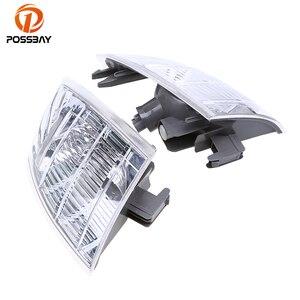 POSSBAY Front Corner Fog Lights Housing Clear 26175-EQ600 26170-EQ600 for Nissan X-Trail T30 Front Foglamp Shell(China)