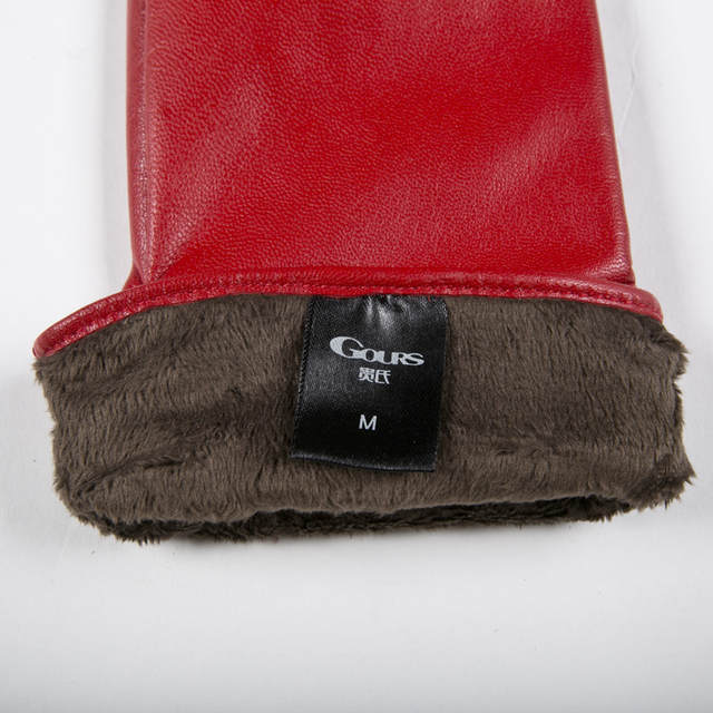 b06699d75ac13 Gours Winter Long Genuine Leather Gloves Women Fall 2018 New Fashion Brand  Ladies Red Warm Gloves