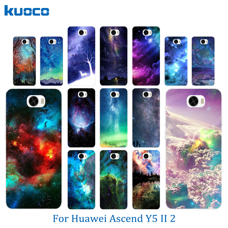 TPU Soft Phone Cases for Huawei Y5 II Y5ii Y52 Cover Starry Sky Pattern 5.0 Case Silicon ...