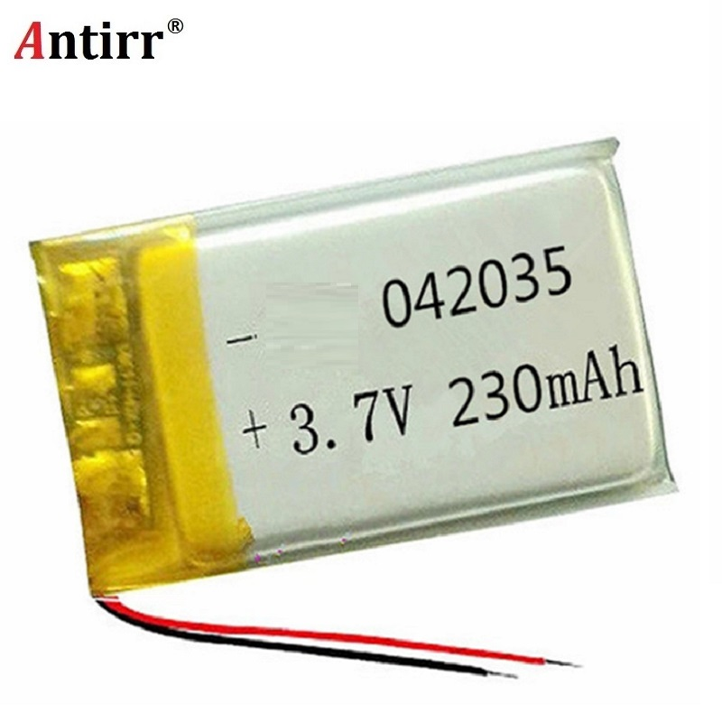 <font><b>3.7V</b></font> lithium polymer <font><b>batteries</b></font> 042035 <font><b>402035</b></font> 230 mah MP3 MP4 MP5 small toys free shipping image
