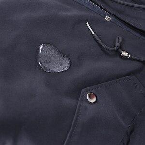Image 5 - Oftbuy 방수 파카 롱 리얼 모피 코트 천연 너구리 여우 모피 칼라 후드 토끼 모피 라이너 두꺼운 따뜻한 겉옷 streetwear