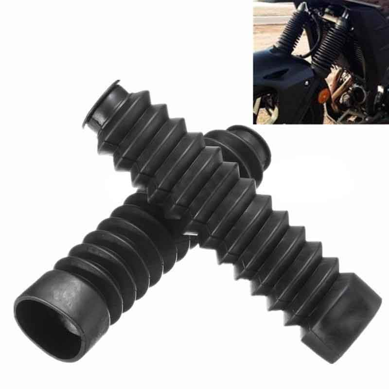2Pcs/Set Motorcycle Rubber Front Fork Cover Protector Gaiter Gator Boot Shock Absorber Motorcycle Accessories fid closed damping ball group rod shock absorber cap for lt 5t 1 set