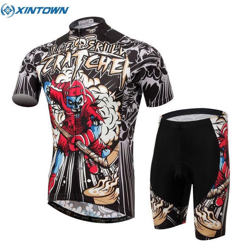 XINTOWN Men s Summer Short Sleeve Cycling Jersey Ropa Ciclismo MTB Bike Bicycle Shirt Sportswear Hockey