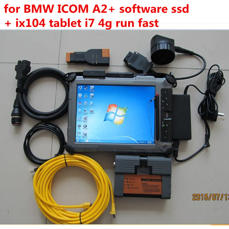2018 for bmw icom a2 with software 480gb ssd laptop xplore ix104 diagnosis ready to use 2 years warranty
