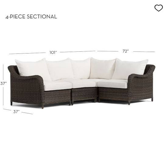 Hot sale quality outdoor patio furniture wicker sofa sets large sectional  sofa