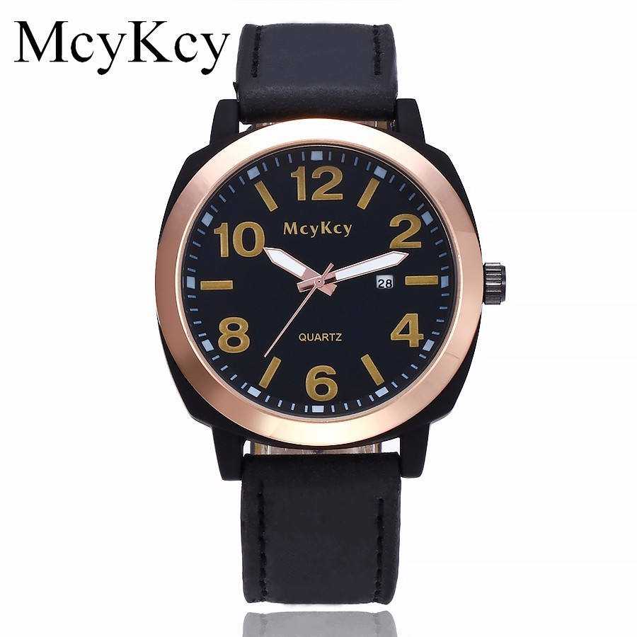 McyKcy Brand Watch Luxury Men Military Watches Fashion Male Leather Sports Quartz Wristwatches Clock Relogio Masculino Hot Sale new listing pagani men watch luxury brand watches quartz clock fashion leather belts watch cheap sports wristwatch relogio male