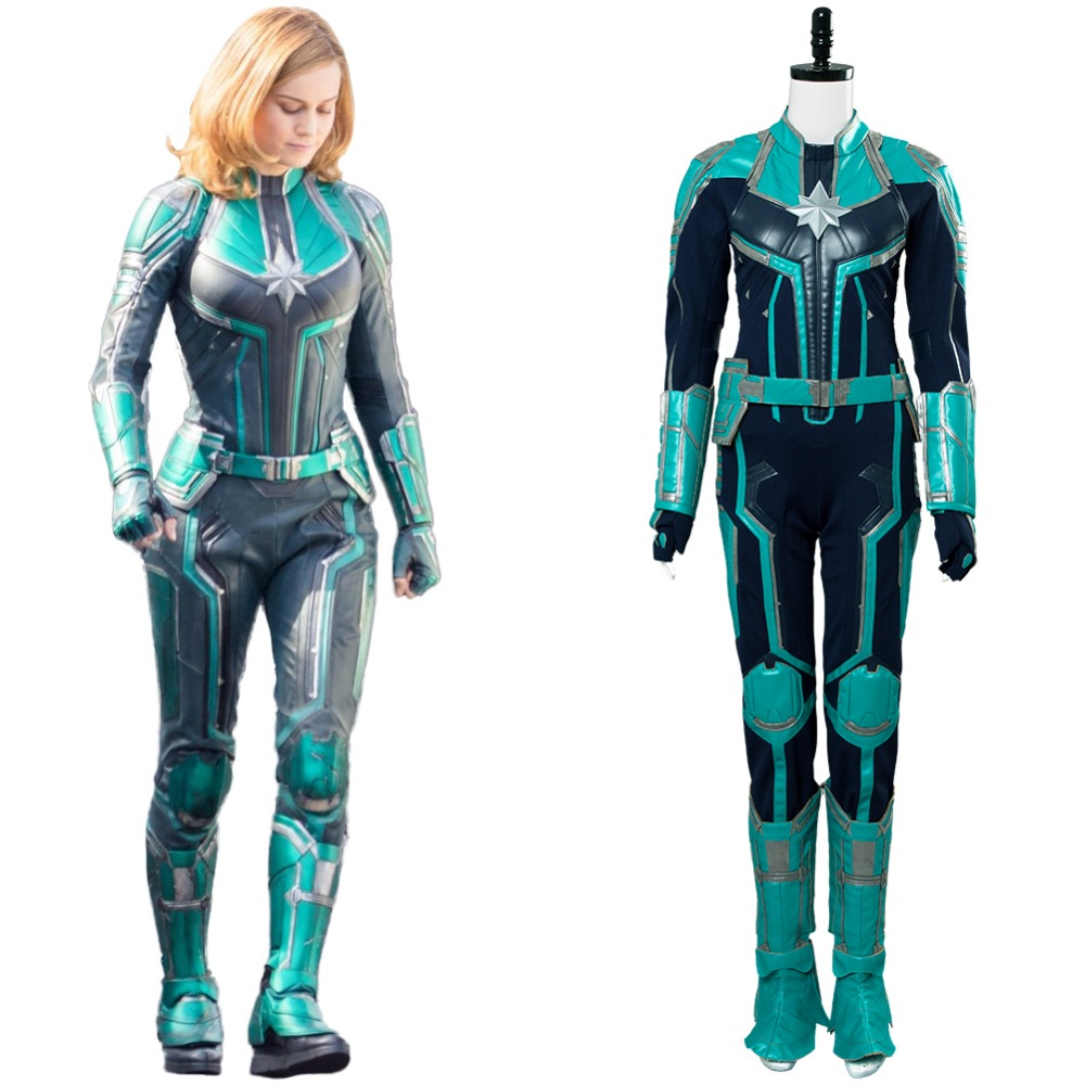 Captain Marvel Costume Cosplay Carol Danvers Outfit -9825