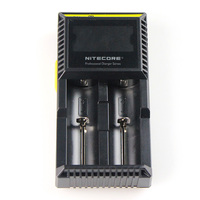 Battery Charger NITECORE D2 Digicharger crystalline LCD display For Li ion / IMR / LiFePO4: 26650, 22650, 18650, 17670, 18490