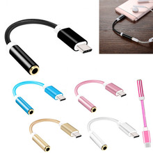 цена на Audio Adapter USB 3.1 Type C to 3.5 Earphone Cable Adapter Male to 3.5mm AUX Audio Female Jack for Letv 2 2Pro Max2