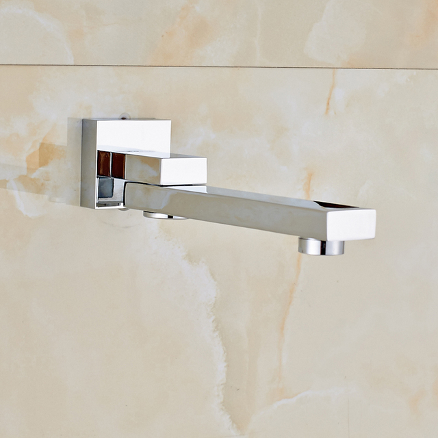 Polished Chrome 16 inch Big Rain Shower Faucet Single Handle Concealed Bath Shower Set with Handshower Brass Spout Wall Mounted