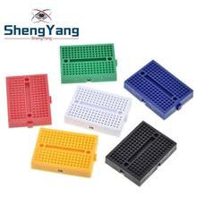 ShengYang 10pcs SYB-170 Mini Solderless Prototype Experiment Test Breadboard 170 Tie-points 35*47*8.5mm