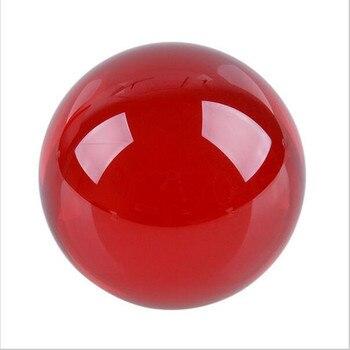 Najlepsza sprzedaż dość kryształ piłka 40/50/60/70/80mm okrągły szkło czerwone bez podstawy kryształ uzdrowienie kula dla domu dekoracje ślubne