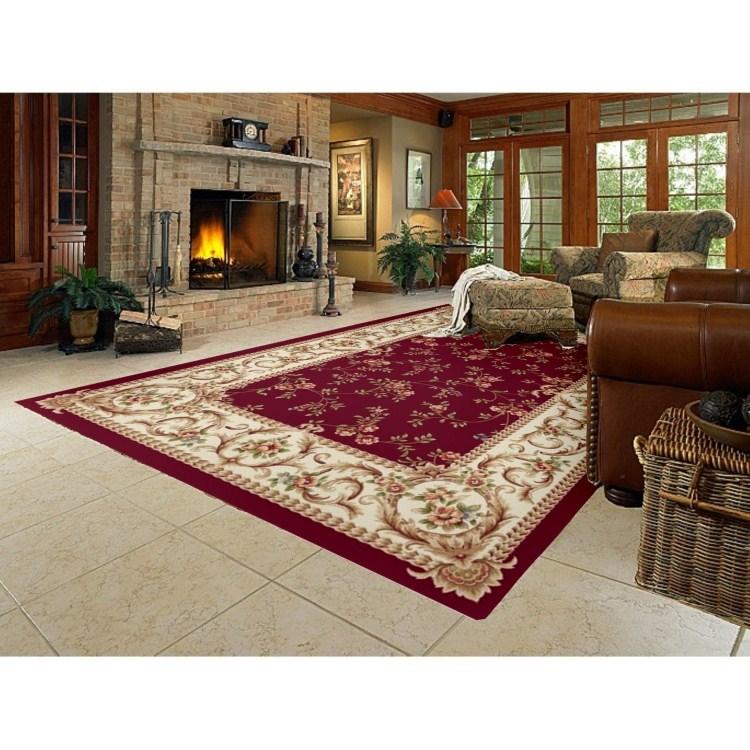 Wine Red Living Room Carpet Home Bedroom Carpet Coffee