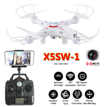 hot deal buy x5sw-1 dron rc quadcopter 2.4g 6 axis fpv drones with camera hd real time video quadrocopter rc helicopter control remote toys