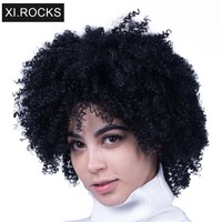 2019 Curly Wig Hair Afro Kinky Curly Synthetic Wigs For Black Women Hair Ombre Blonde Synthetic Wig African Hairstyle Kinky Hair
